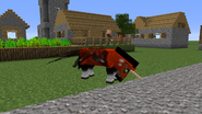 Horse head lowered