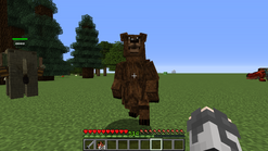 Grizzly attacking player