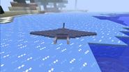 Manta ray on land