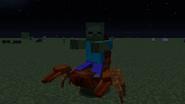 Zombie riding scorpion
