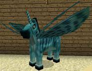 Cyan fairy horse