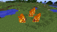 Golems burning