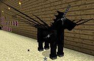 Black fairy horse
