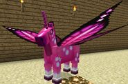 Pink fairy horse