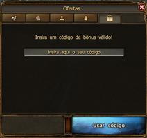 Adicionado código bônus direto no jogo
