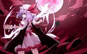 Touhou wings dress night moon purple hair short hair hats remilia scarlet anime girls vampire 150 www.wallpaperhi.com 8