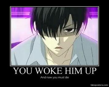 Kyoya Waking Up