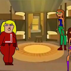 Las chicas de Los Osos Gritones en su cabaña.