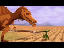 Old Spinosaurus and Tiny