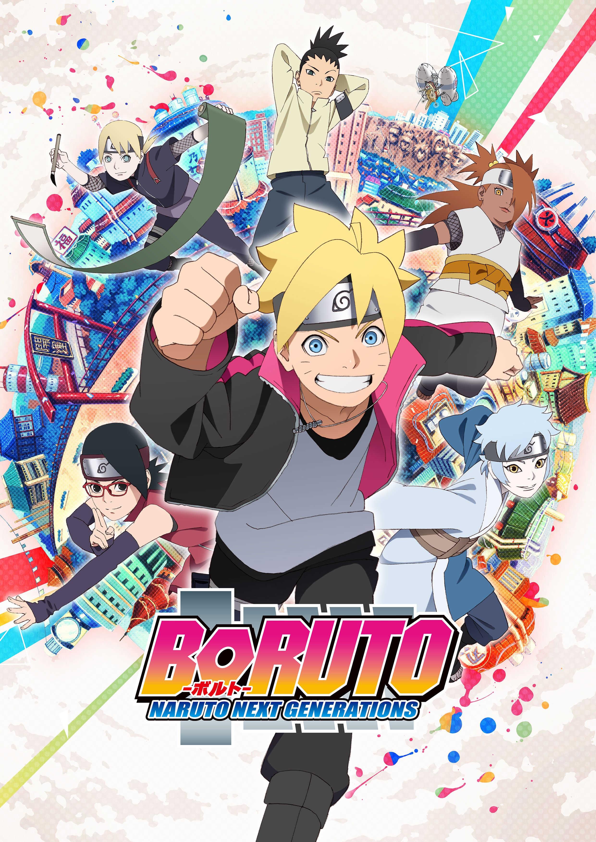 Poster A3 Boruto Next Generations Uzumaki Naruto Boruto Hinata Himawari Manga 03