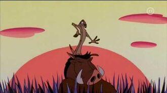 Timon & Pumbaa The Lion Sleeps Tonight (Croatian)