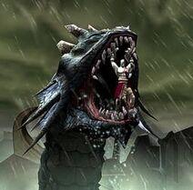 Kratos walczący z Hydrą
