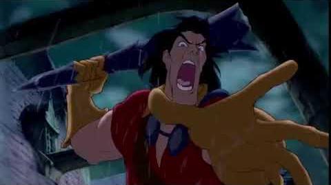Adventure Tells Gaston to Get Off Him