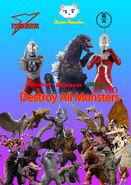 Ultraman x Ultraseven x Godzilla on Destroy All Monsters