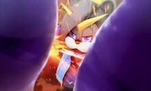 Katsuemon blocking Demon Hand