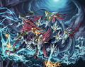 Dran Gileos, Nine Divine Dragoons artwork