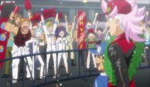 Basara with his racing crew