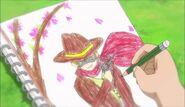 Joe's drawing of a cowboy