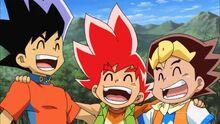 Joe, Katta and Shobu as kids