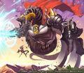 Demotory the 5th, Demonic Eyed Death Dragon artwork