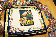 50th Booster Pack celebration cake
