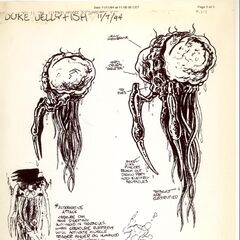 Concept art for the LameDuke Jellyfish.