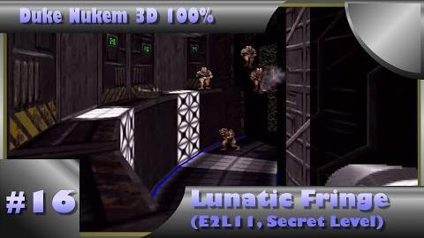 Duke Nukem 3D 100% Walkthrough- Lunatic Fringe (E2L11) -Secret Level-