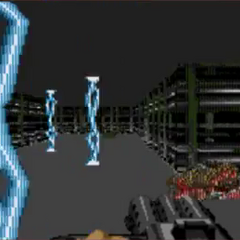 Electric strikes. Originally planned for Duke3D (PC) but was cancelled.