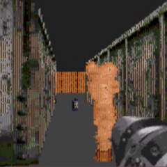 A flame sprinkler in Duke Nukem 3D Genesis, which was originally intended for the actual Duke Nukem 3D, but was cancelled somewhere in the Beta. It was later on put into the map