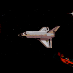 Final cutscene showns Duke's spacecraft passing by a spaceshuttle on his way back to Earth. If one look closely, the spaceshuttle has a Brazilian flag painted on the wing.