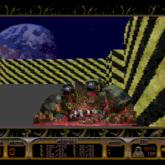 The defeat of the final boss (Overlord) in DN3D Genesis. This is found at the very end of OVERLORD.