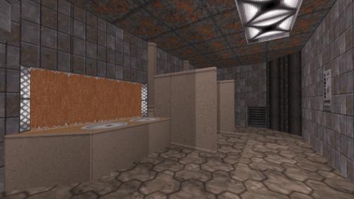 Duke Burger bathroom