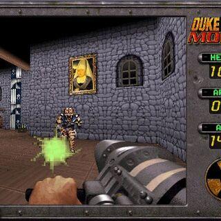 An <i>Assault Trooper</i> wielding a <a href=