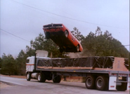 "General Lee jumping over a semi in episode ""High Octane"""