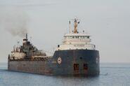 Lake freighter Algosoo enters Duluth Ship Canal - Minnesota, USA - 10 July 2012 - (1)