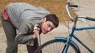 Lloyd and his bike