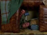 Lloyd and harry build a fort