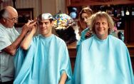Harry and Lloyd getting a haircut