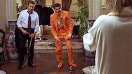 Lloyd's orange suit