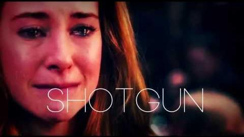Tris & Tobias Angel with a shotgun