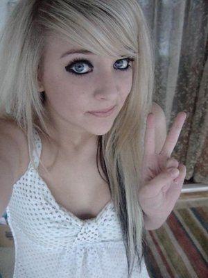 Pretty Blonde Emo Girl