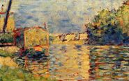 Georges-Seurat-River-s-Edge-Oil-Painting
