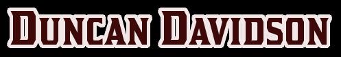 Duncan Davidson Name pic