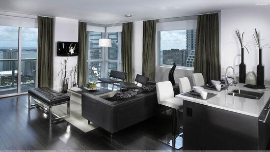 Black-And-White-Nice-Apartment-Interior