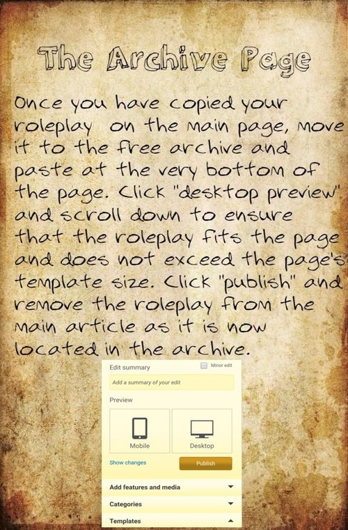 Archive page
