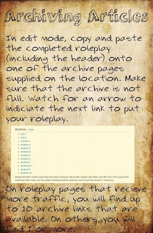 Archiving articles