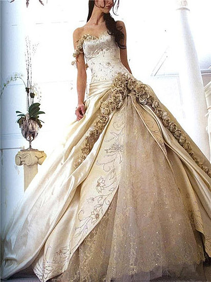 Image gold wedding dress dumbledore 39 s army for Most unique wedding dress designers