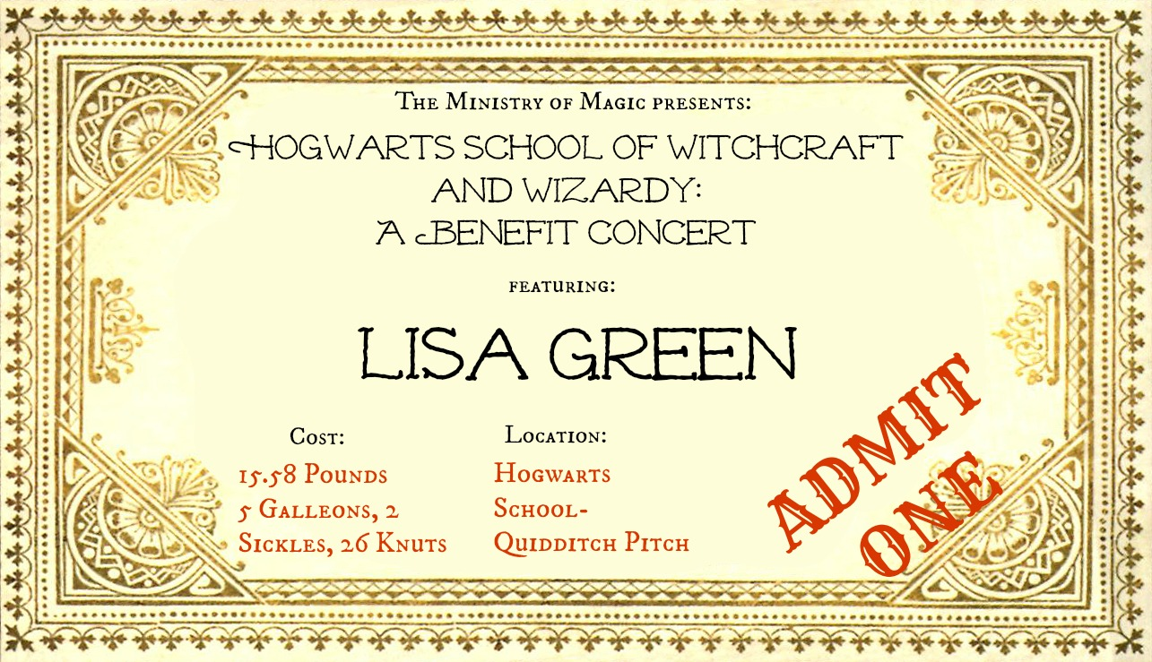 Benefit Concert Ticket  Make Your Own Concert Tickets