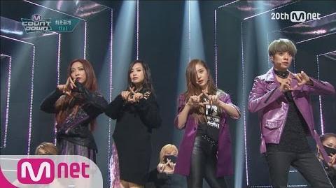 "F(x)(에프엑스)-""DIAMOND(다이아몬드)"" Comeback stage M COUNTDOWN 151029 EP"