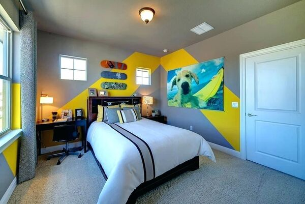 Skateboard-bedroom-ideas-skateboard-bedroom-ideas-new-designs-use-cool-boys-room-ideas-skateboards-on-gray-wall-with-chevron-skateboard-bedroom-ideas-cool-skateboard-bedroom-ideas